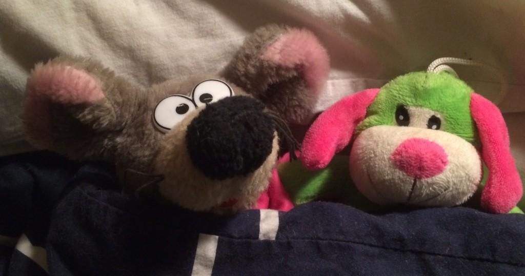 vv och CL i sängen